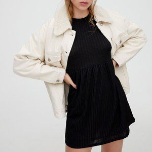 Pull&Bear Black Babydoll Mini Dress